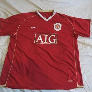 Nike Manchester United 2006/07 Home Soccer Jersey